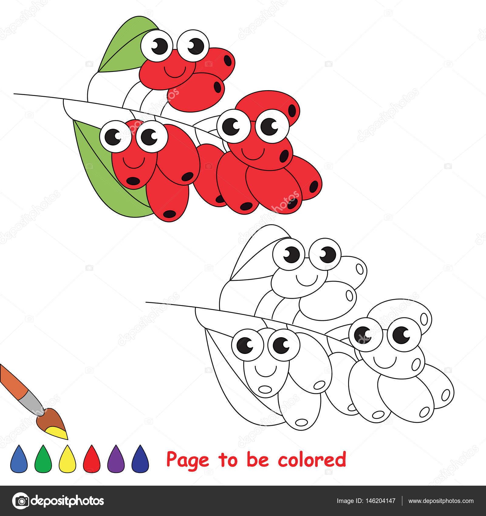 Dibujos animados de Burberry rojo. Página para colorear — Archivo ...