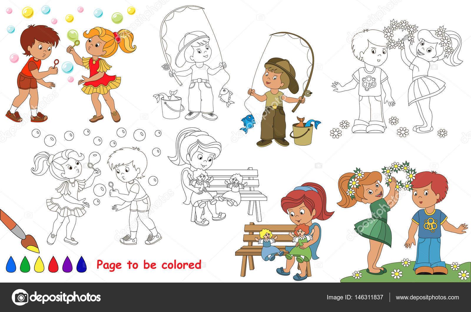 Libro verano de colores descargar | Dibujos de animados juego chico ...