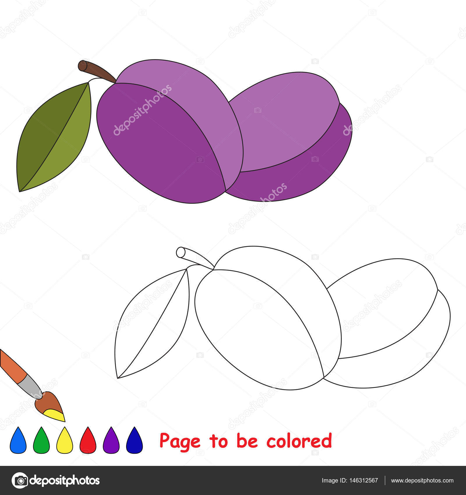 Page To Be Colored Stock Vector C Anna Mikhailova 146312567