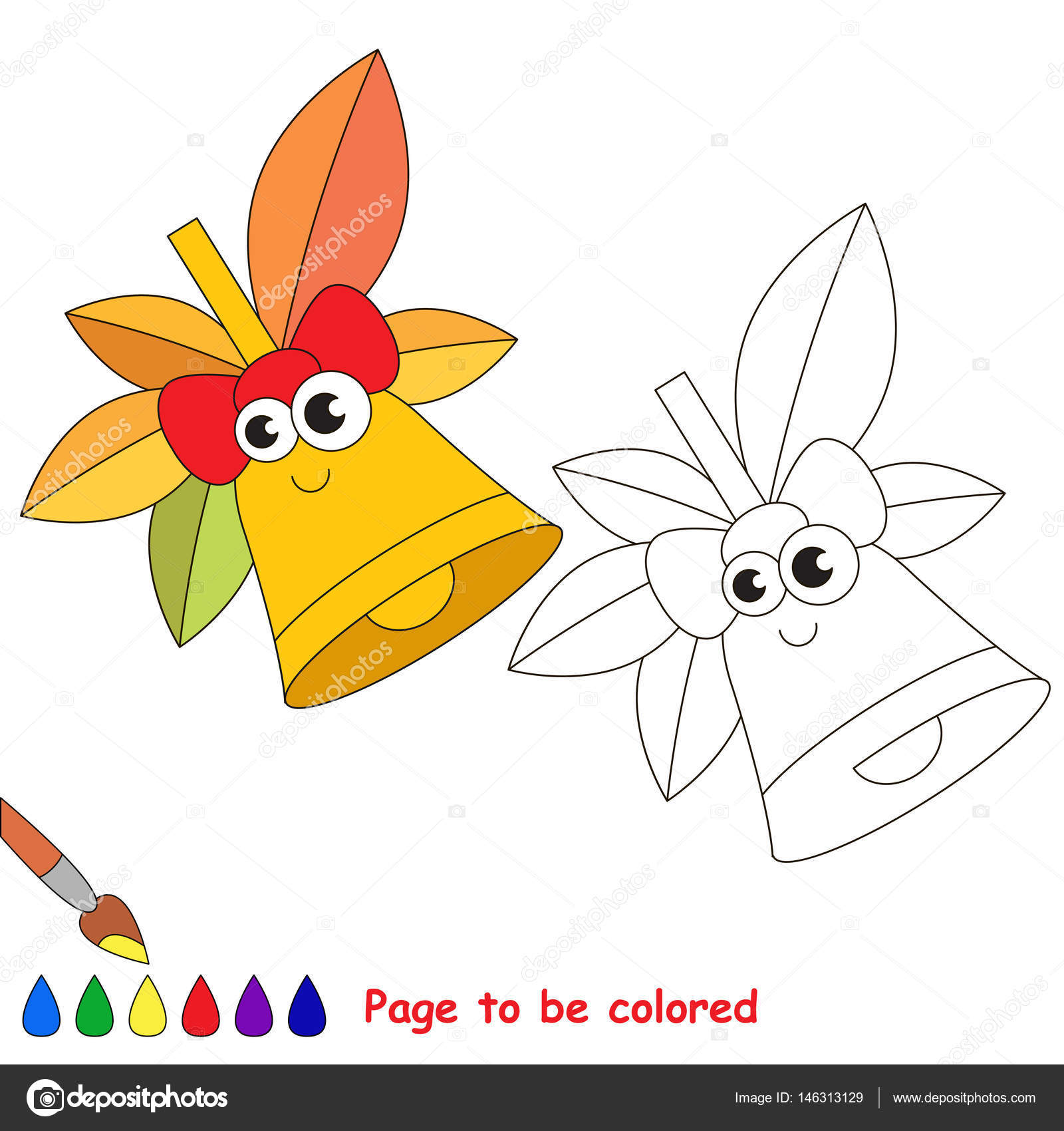éléments De L école De Dessin Animé Page à Colorier Image