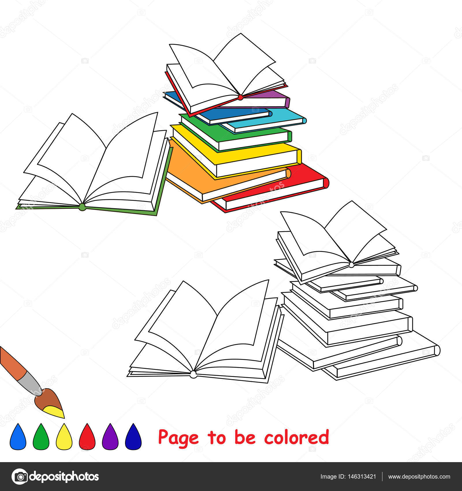 Page To Be Colored Stock Vector C Anna Mikhailova 146313421