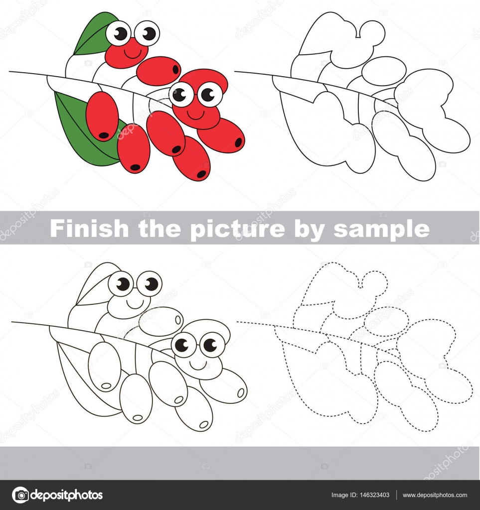 Berry. Zeichnung-Arbeitsblatt — Stockvektor © Anna_Mikhailova #146323403