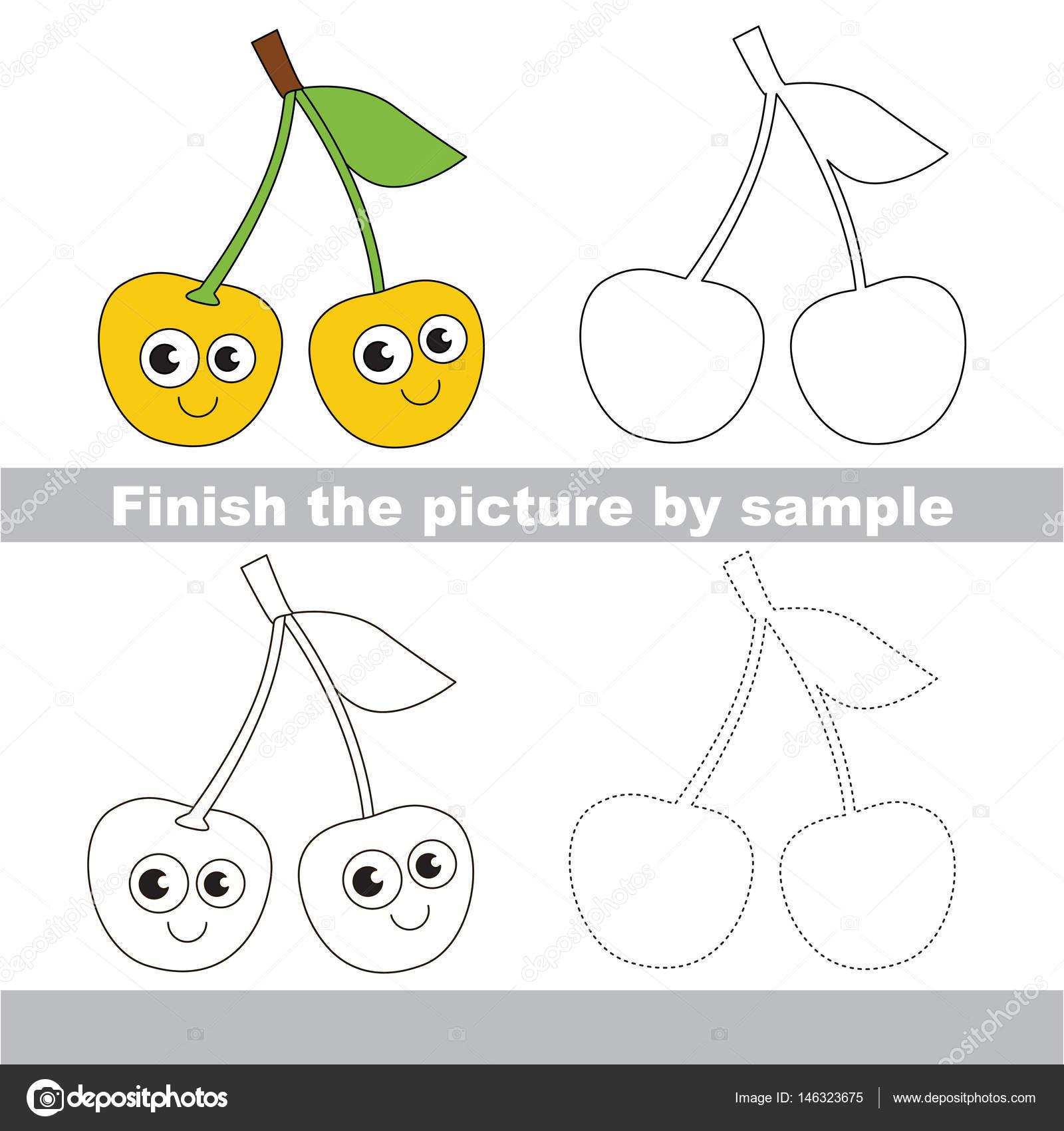 Berry. Zeichnung-Arbeitsblatt — Stockvektor © Anna_Mikhailova #146323675