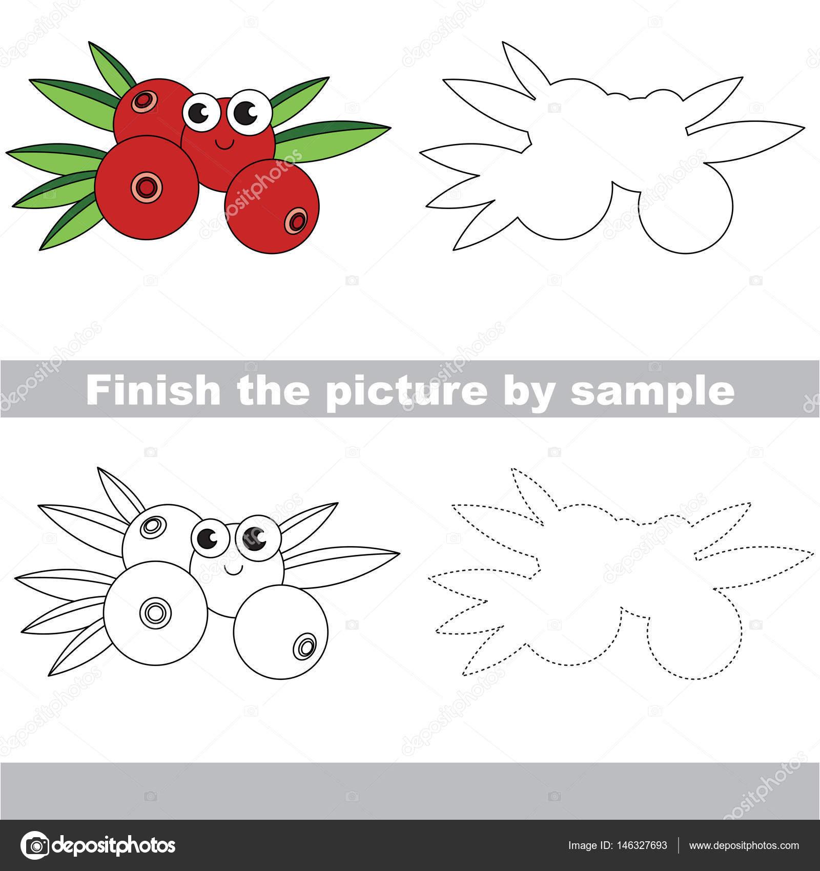 Berry. Zeichnung-Arbeitsblatt — Stockvektor © Anna_Mikhailova #146327693