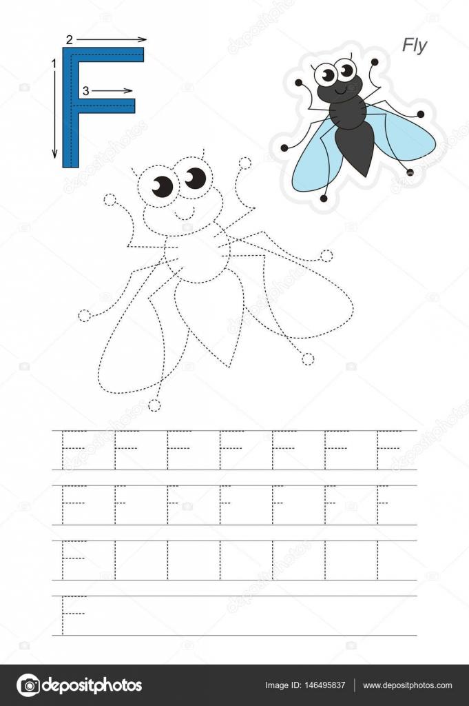Spiel für Brief F. Fly Spur — Stockvektor © Anna_Mikhailova #146495837