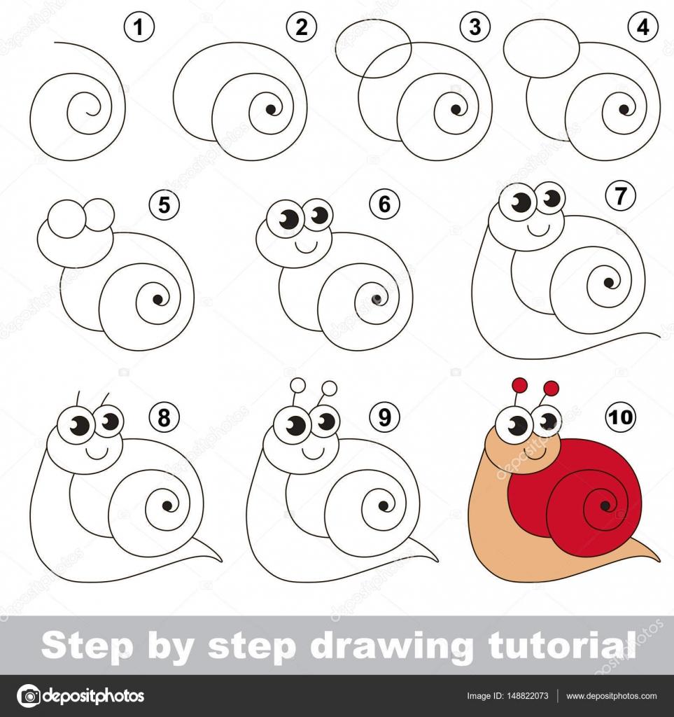 tutoriel de dessin escargot rouge image vectorielle anna mikhailova 148822073. Black Bedroom Furniture Sets. Home Design Ideas