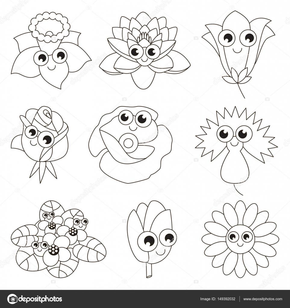 Imágenes Flores Para Dibujar Con Color Faciles Página A Color