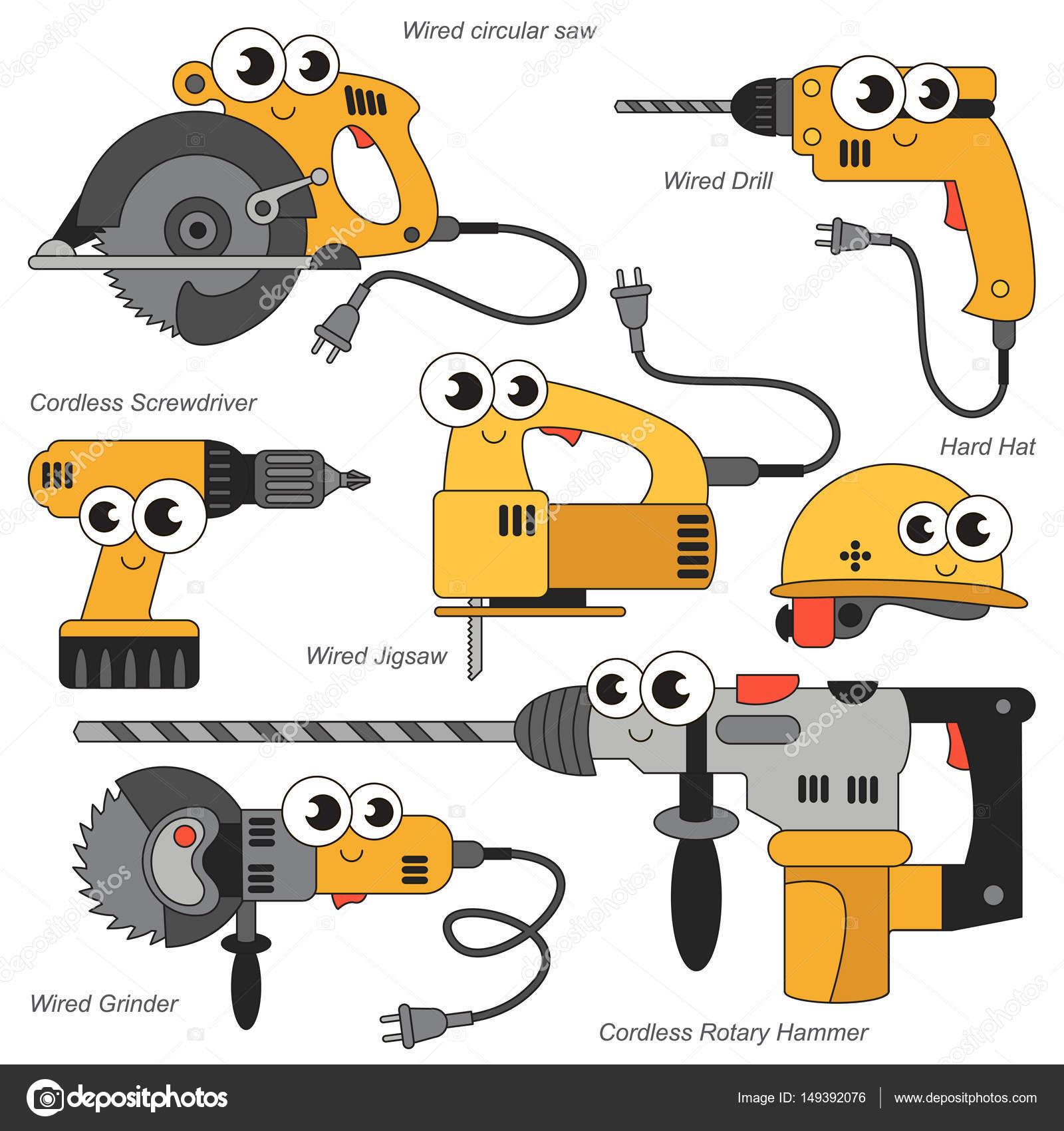 Lustige Engine Tools festgelegt, die Sammlung der Färbung Buch ...