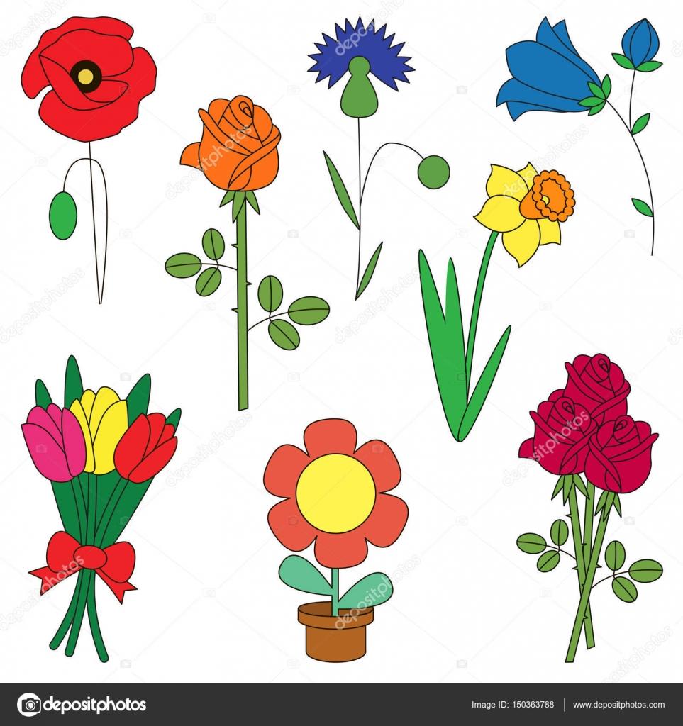Modele Fleur Coloriage.Jeu De La Fleur La Collection De Coloriage Modele De Livre Le