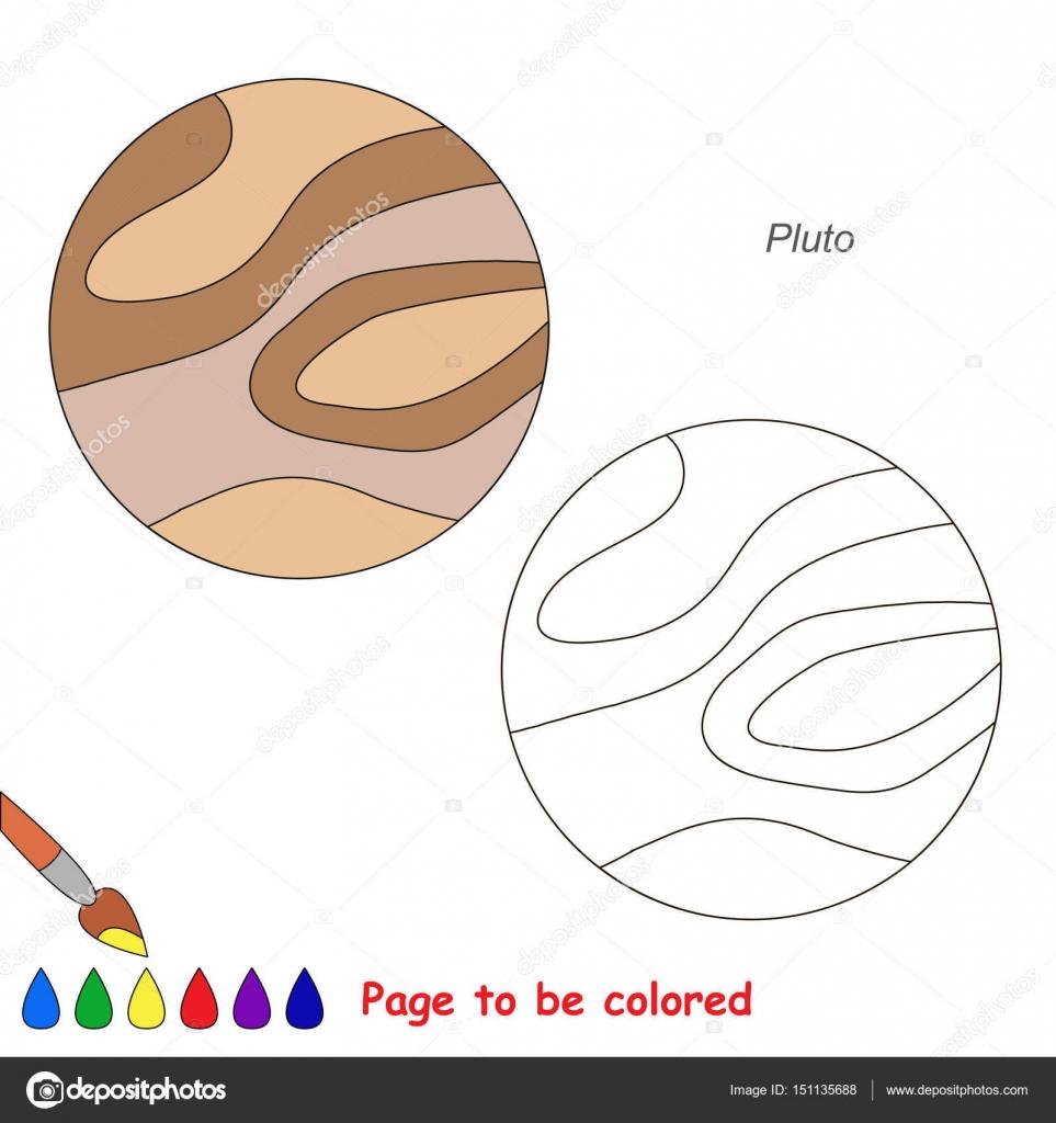 Seite zu farbigen, einfache Bildung Spiel für Kinder — Stockvektor ...