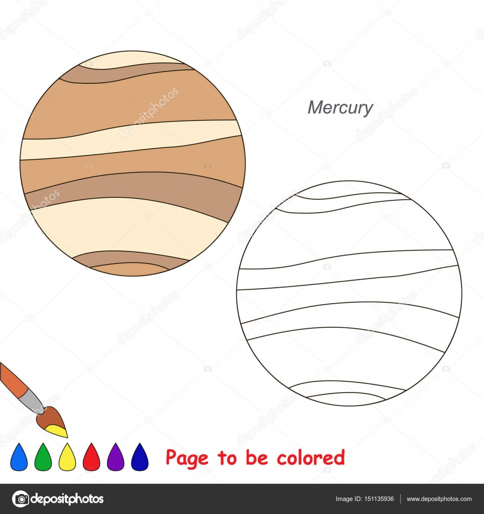 Página a color, simple Educación de juego para niños — Vector de ...