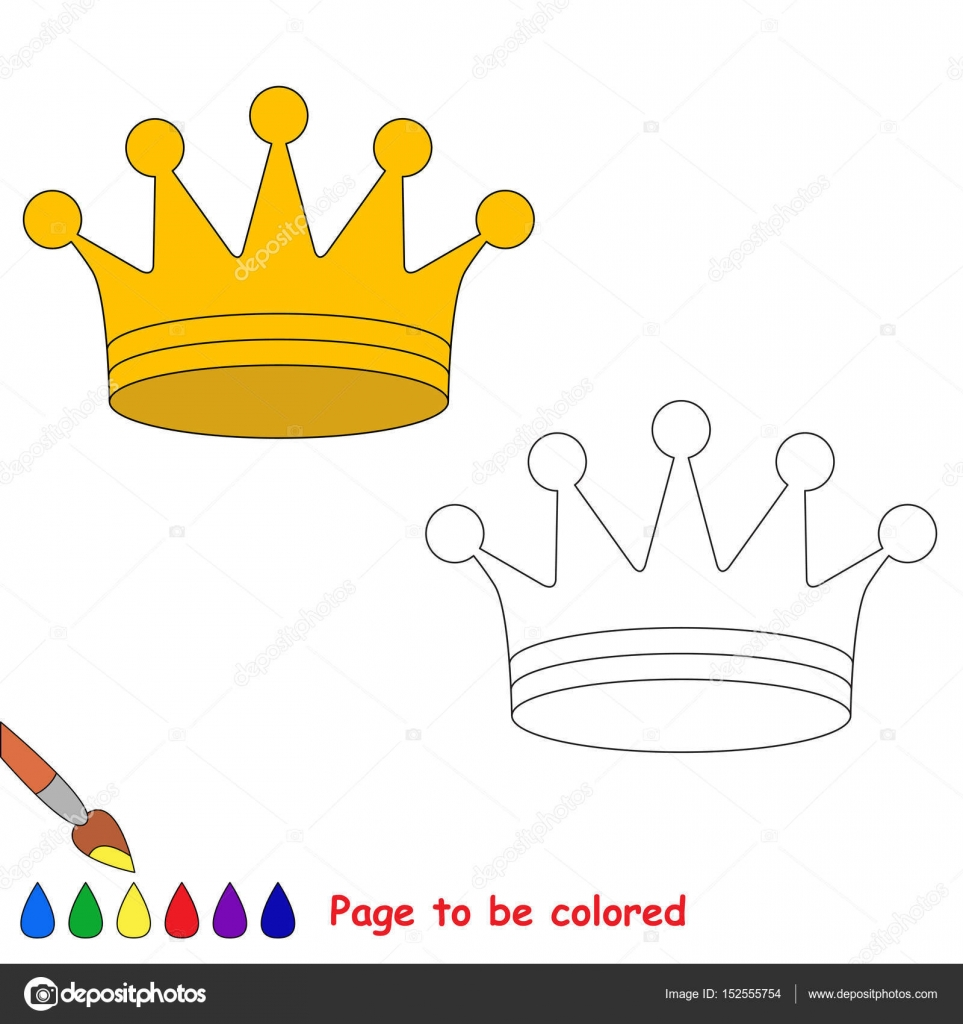 Imágenes Coronas De Rey Para Colorear Página A Color Simple
