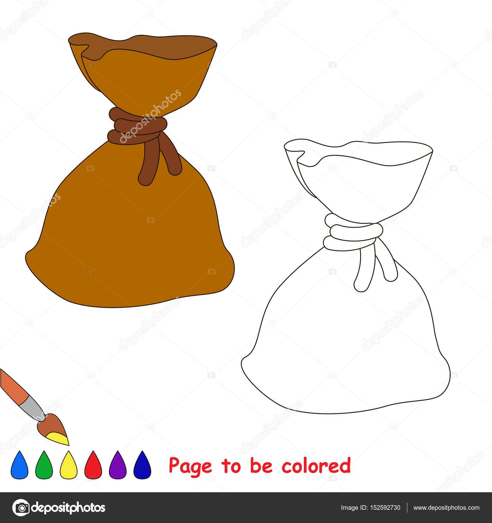 Página a color, simple Educación de juego para niños — Archivo ...