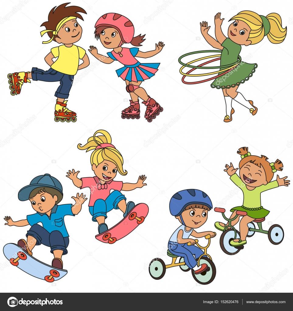 Sport Kid festgelegt, die Sammlung der Färbung Buch Vorlage, die ...