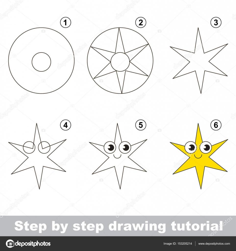 Okul öncesi çocuklar Için çizim Eğitimi Stok Vektör