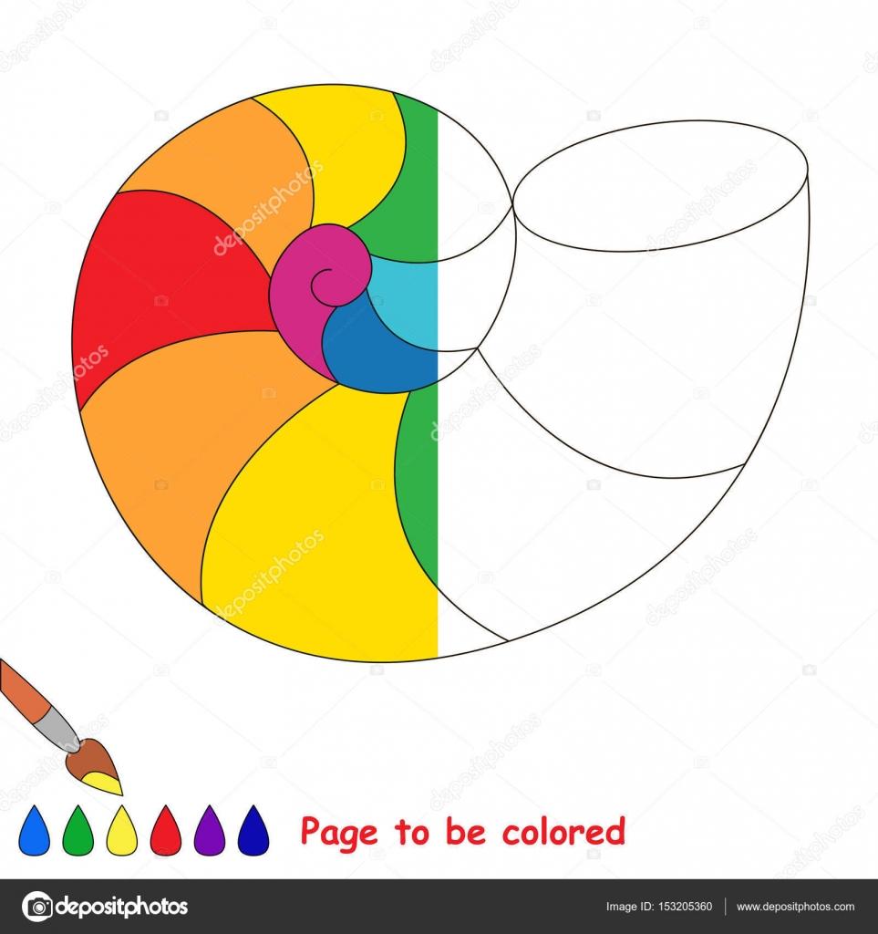 örnek Tarafından Yarısı Renkli Olması Için çocuk Oyunu Stok Vektör