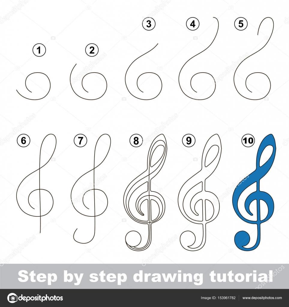 Imágenes Claves De Sol Para Dibujar Tutorial De Dibujo Para Niños