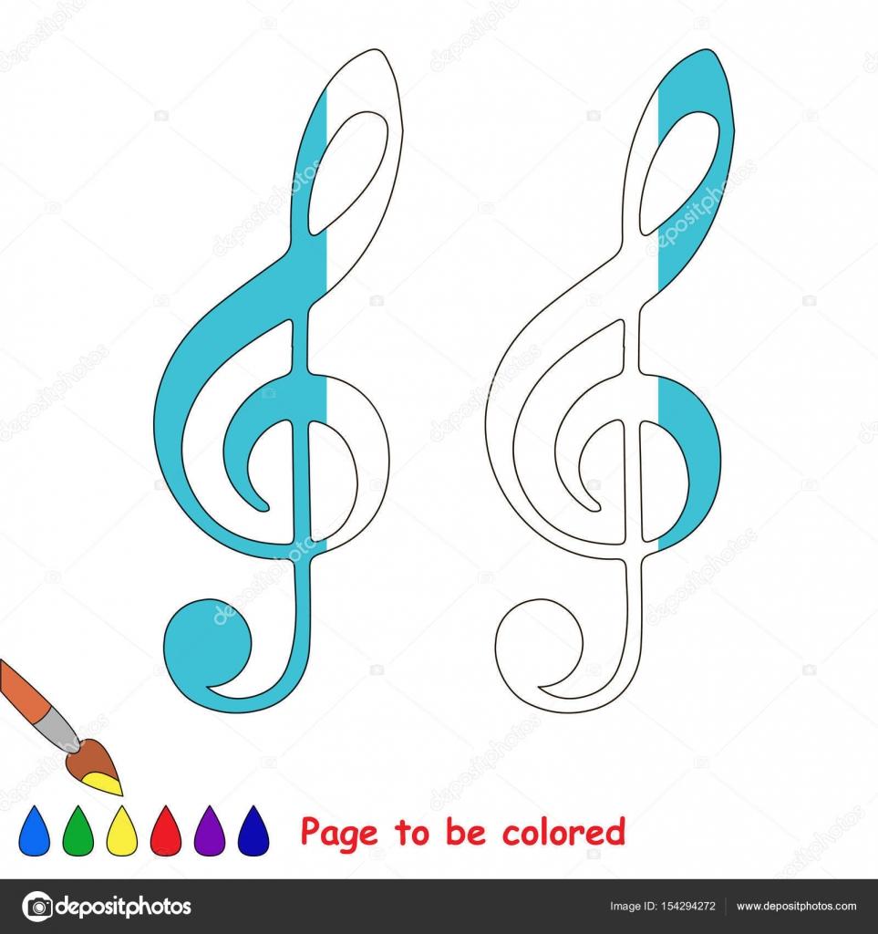 Imágenes Clave De Sol Para Colorear Juego De Niños Para Colorear