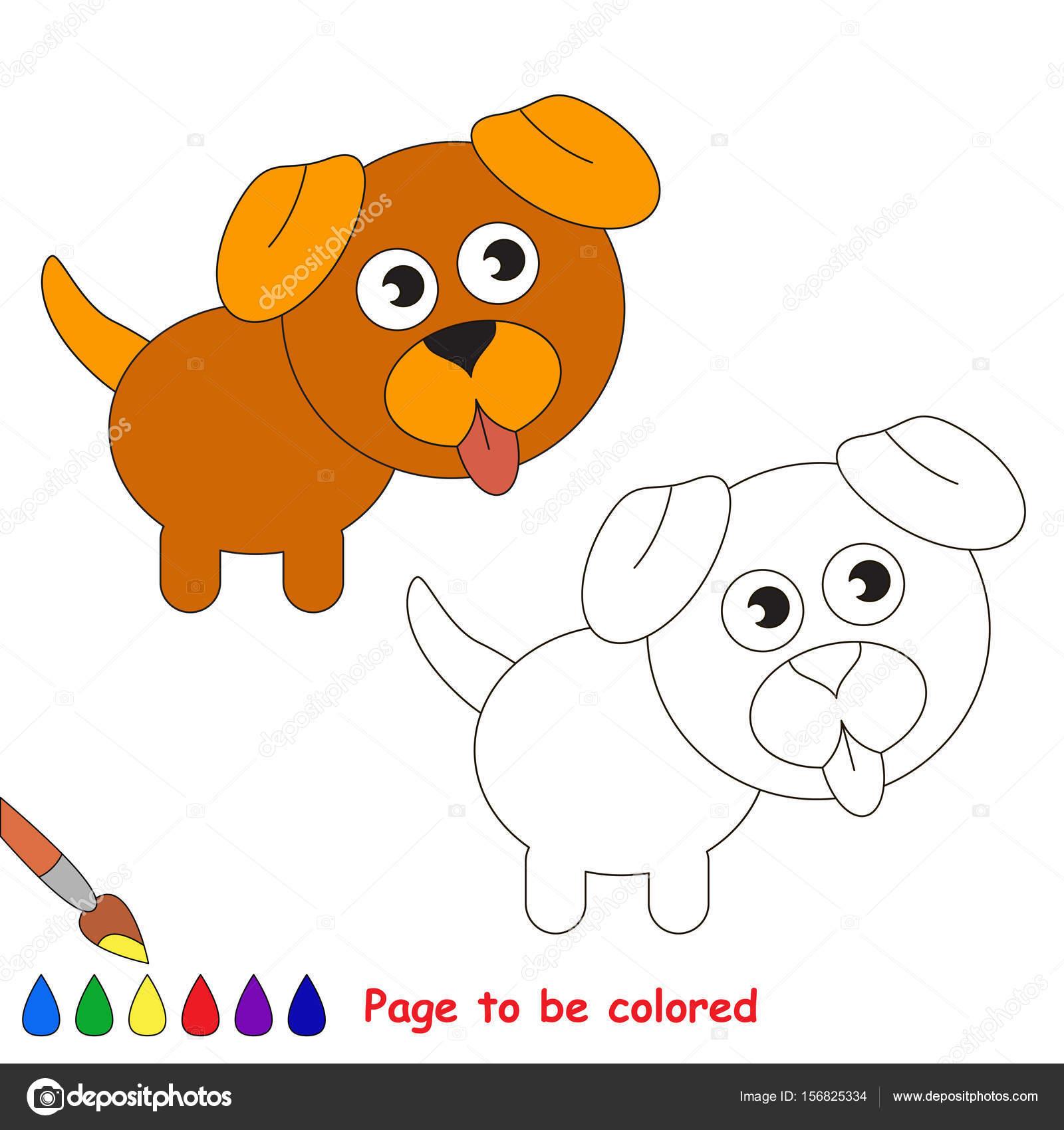 Cachorro Mascota Perro Para Colorear Libro Para Colorear