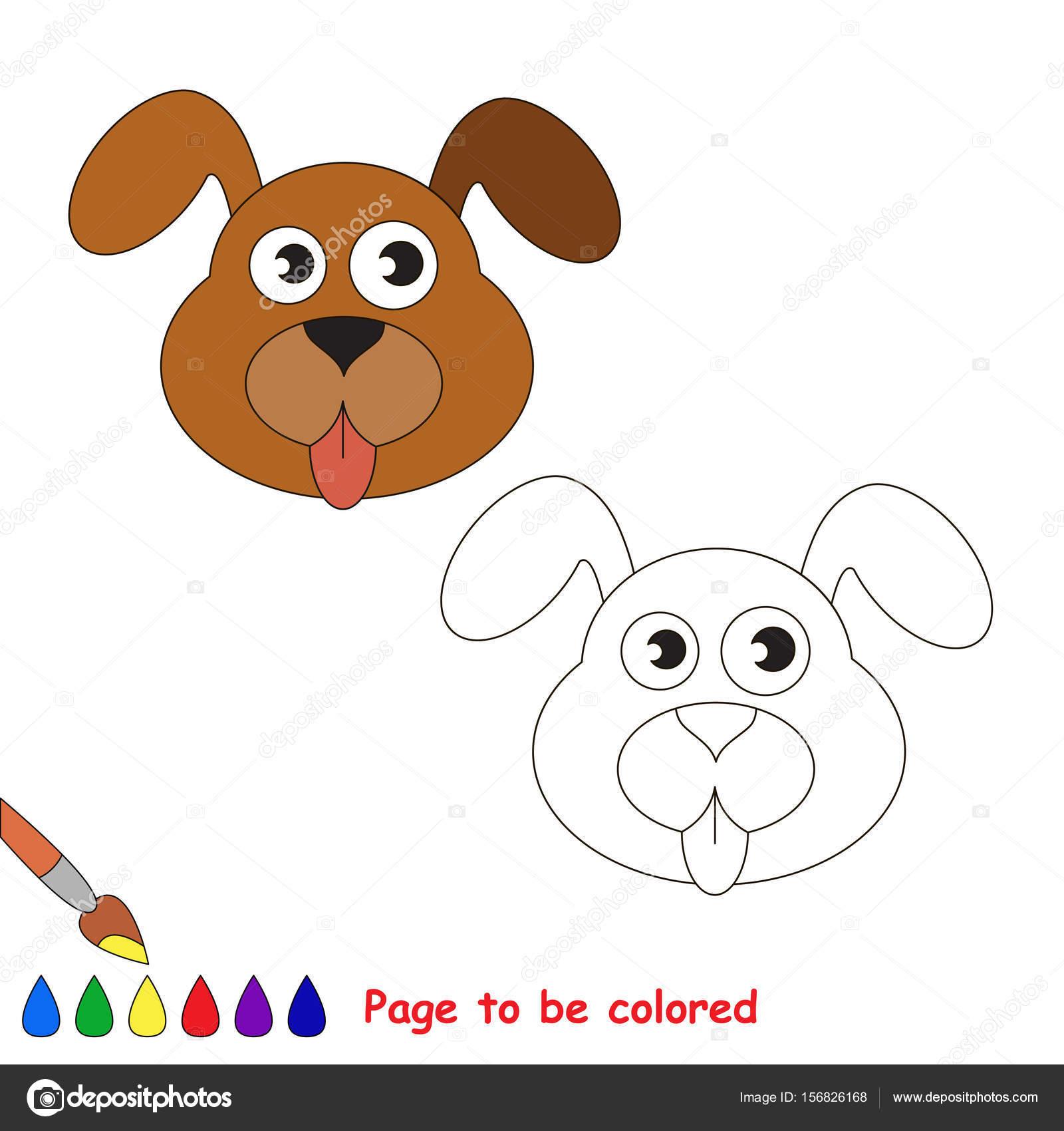 Faccia Cane Colorare Libro Colorare Bambini Età Prescolare Con