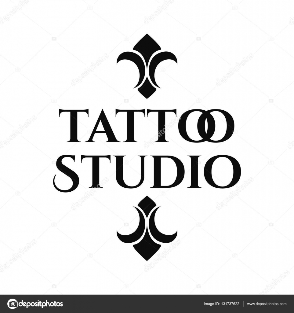studio tattoo retro logo template stock vector myub 131737622