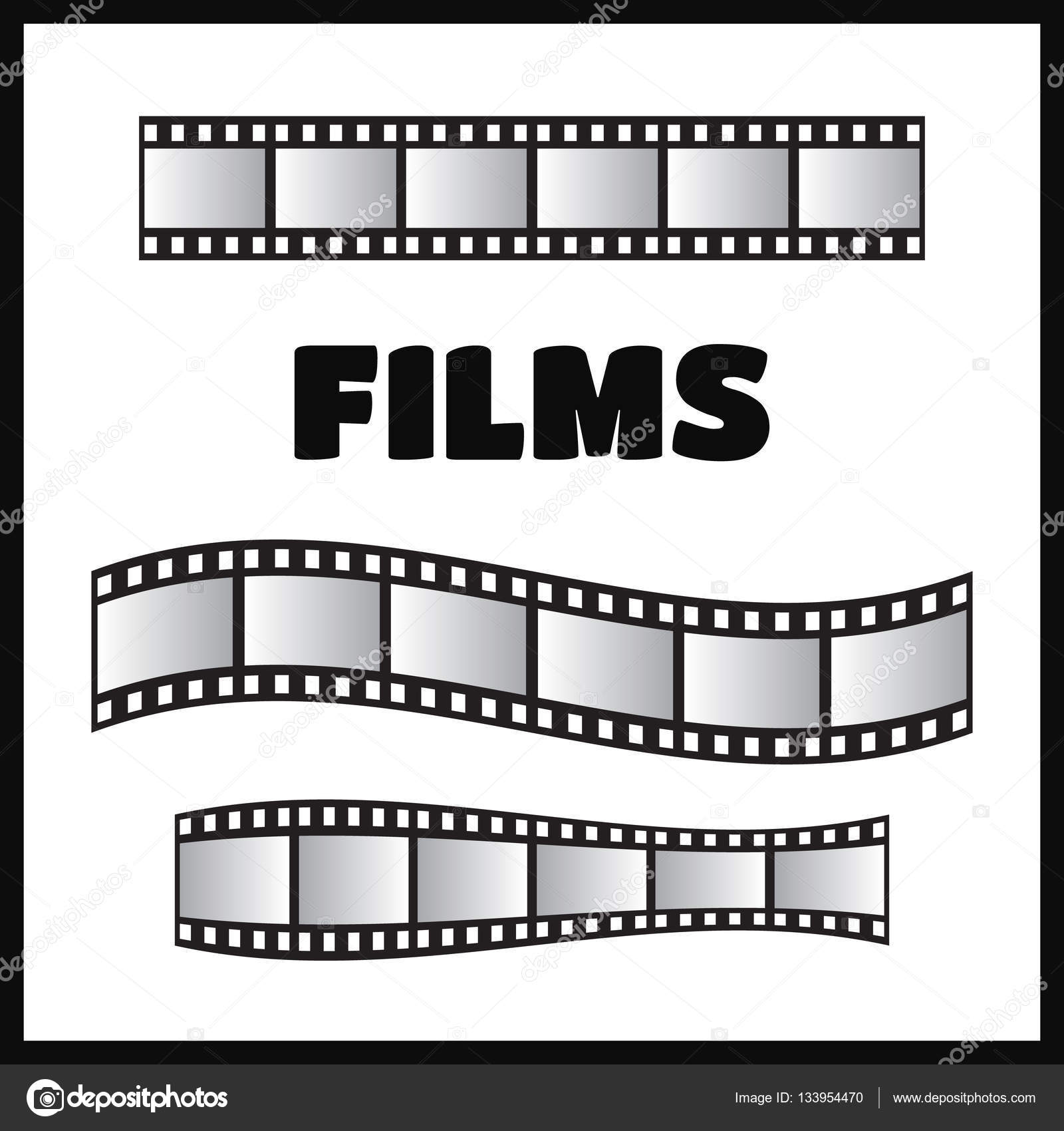 Vector de rollo de película, 35 mm, diapositiva conjunto marco ...