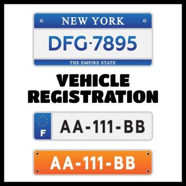 Car number plates license set