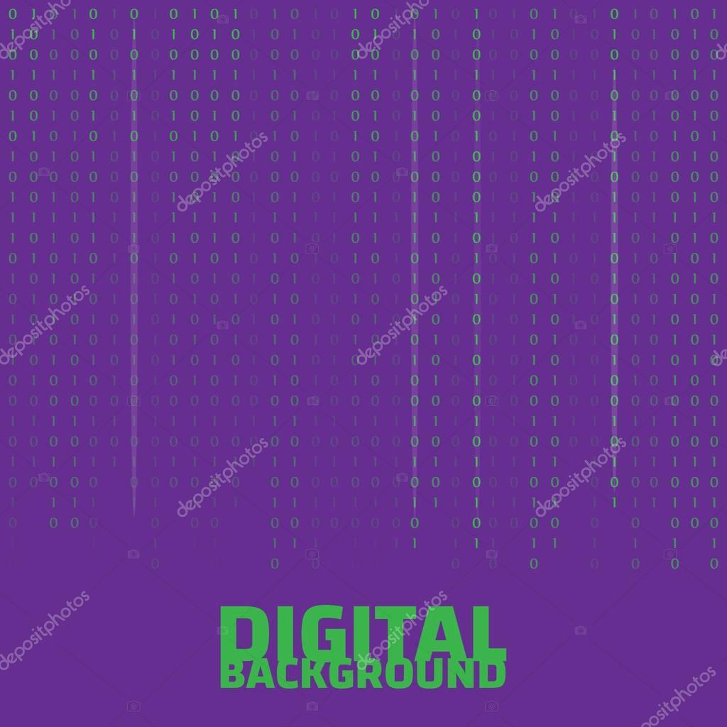Binary code black and white background. Algorithm binary. Binary