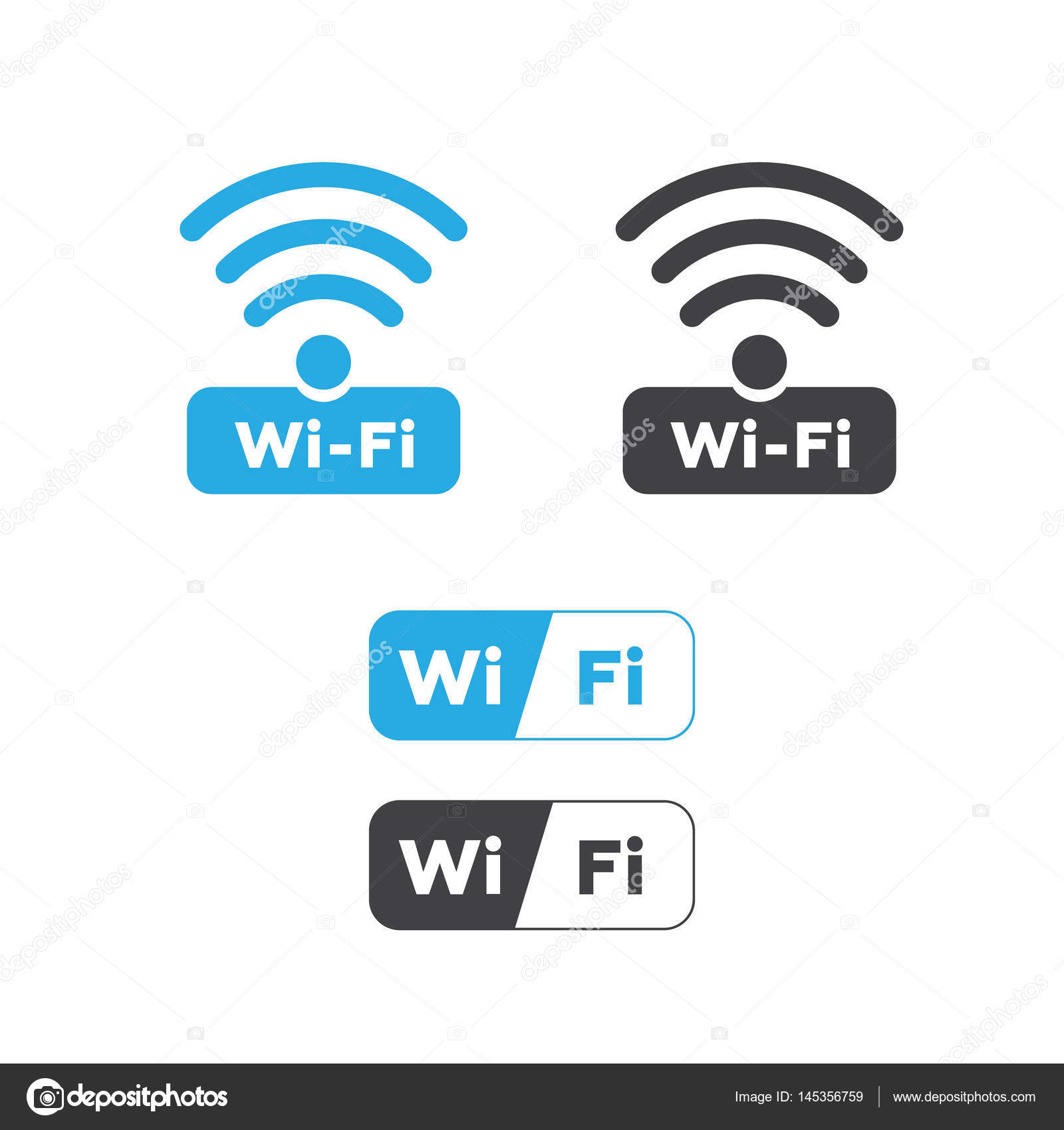 Wireless und WLAN-Symbole. Wireless Netzwerk Symbol Wifi-Symbol ...