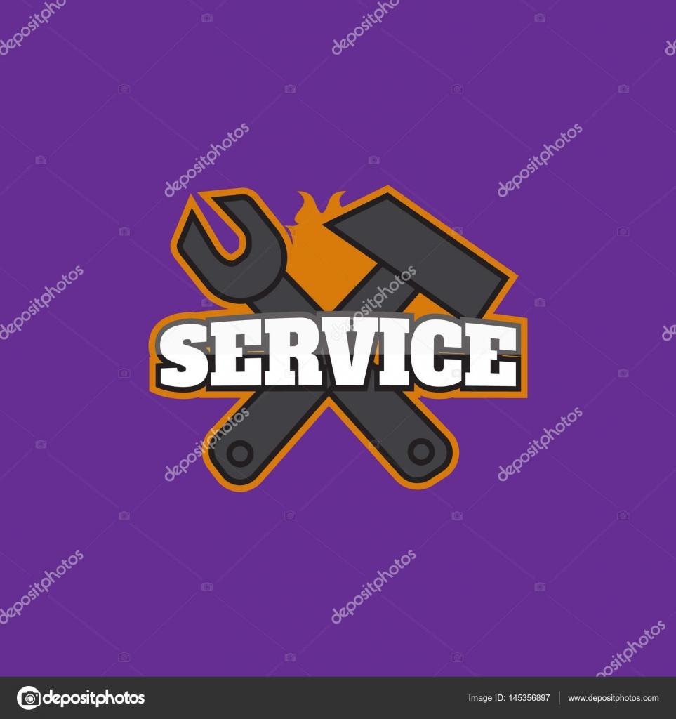 Servicios de plantillas de logotipo. Coche servicios signo logo ...