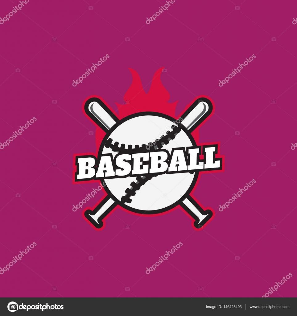 Baseball Championship Logo Label Templates Eps10 Stock Vector