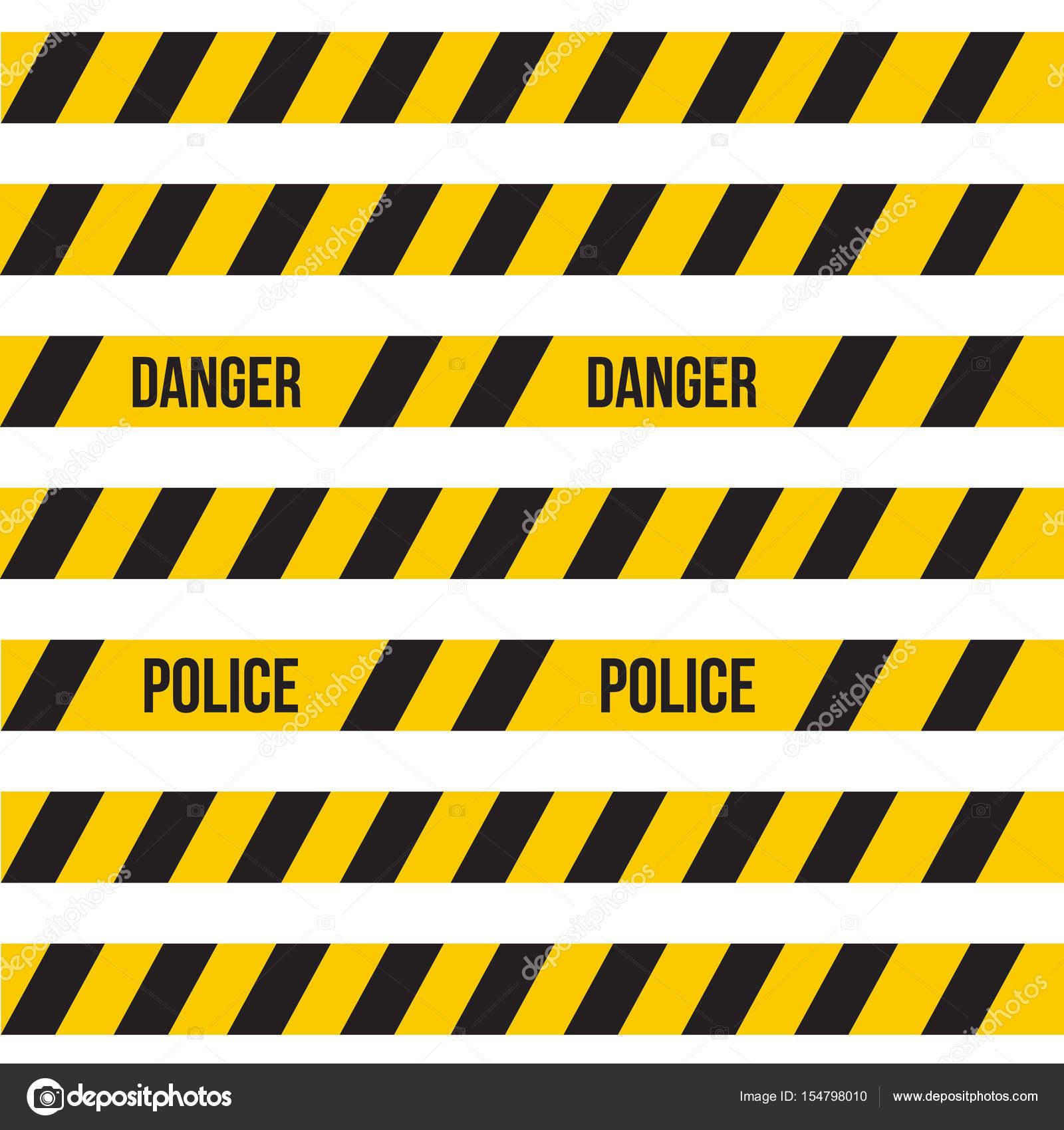 Favorit Vector gelb Kunststoff Absperrband oder Warnung Band eingestellt MG09