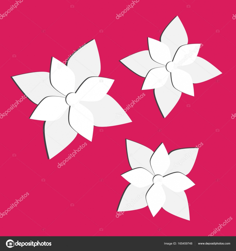 Vector paper flowers set. 3d origami abstract flower vector — Stock ...