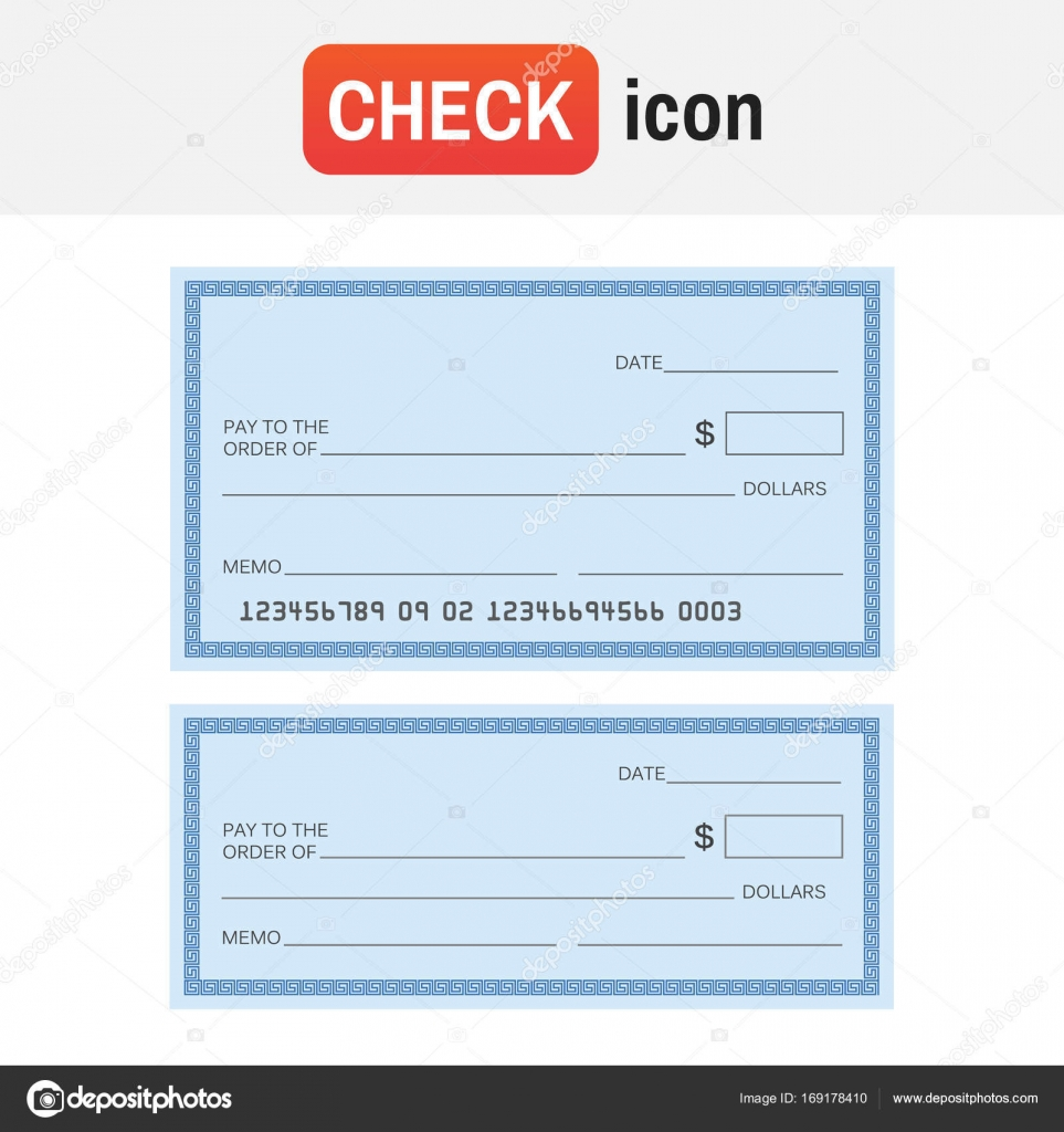 check template bank blank check icon vector stock vector myub