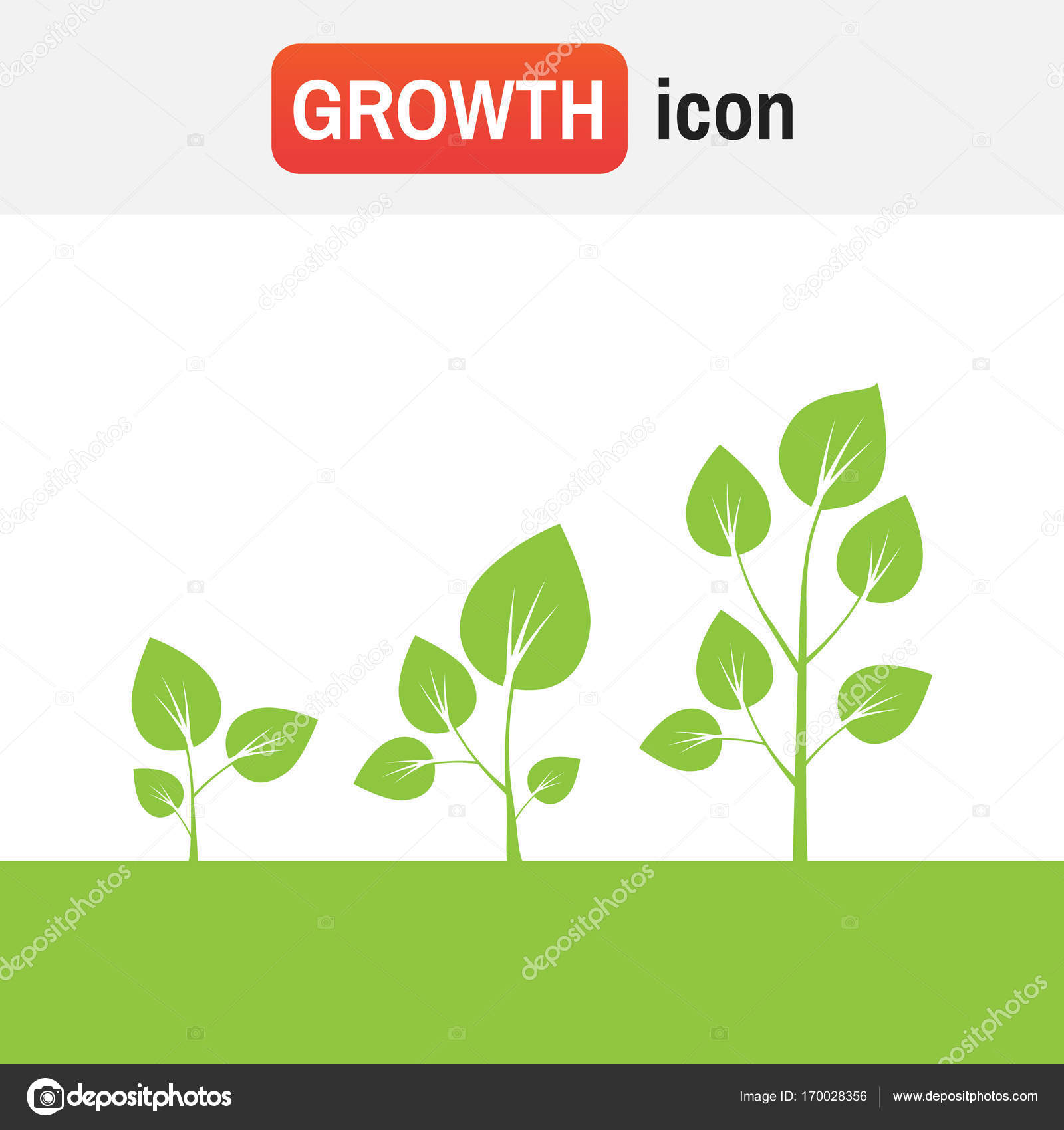 Cycle Growth Plant Tree Growth Vector Diagram Green Tree