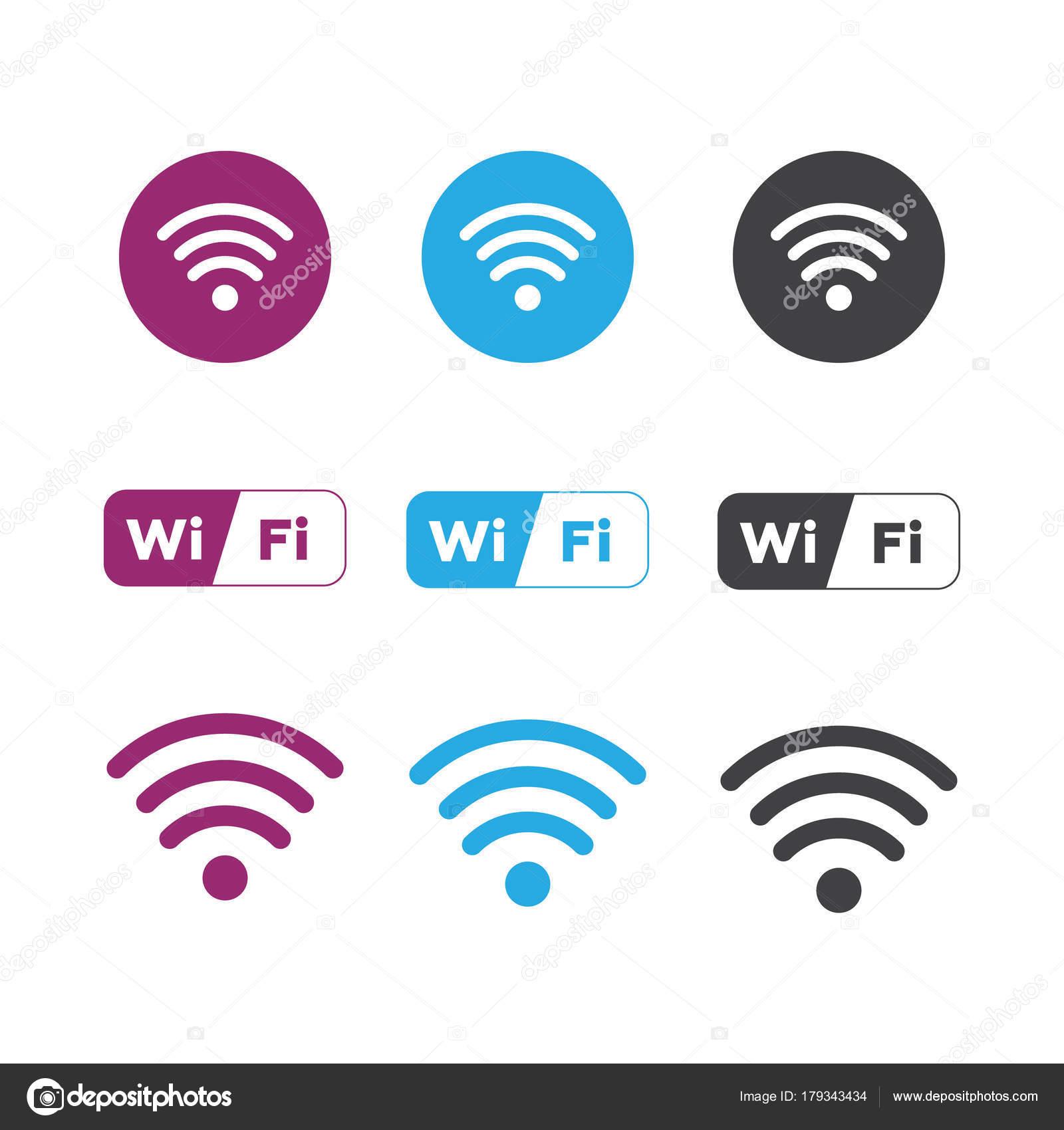 Wireless and wifi icons. Wireless Network Symbol wifi icon. Wire ...