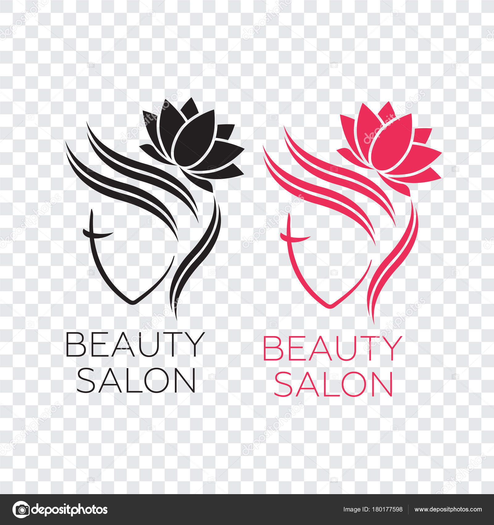 Modèle Logo Belle Femme Pour Salon Coiffure Salon Beauté Cosmétique