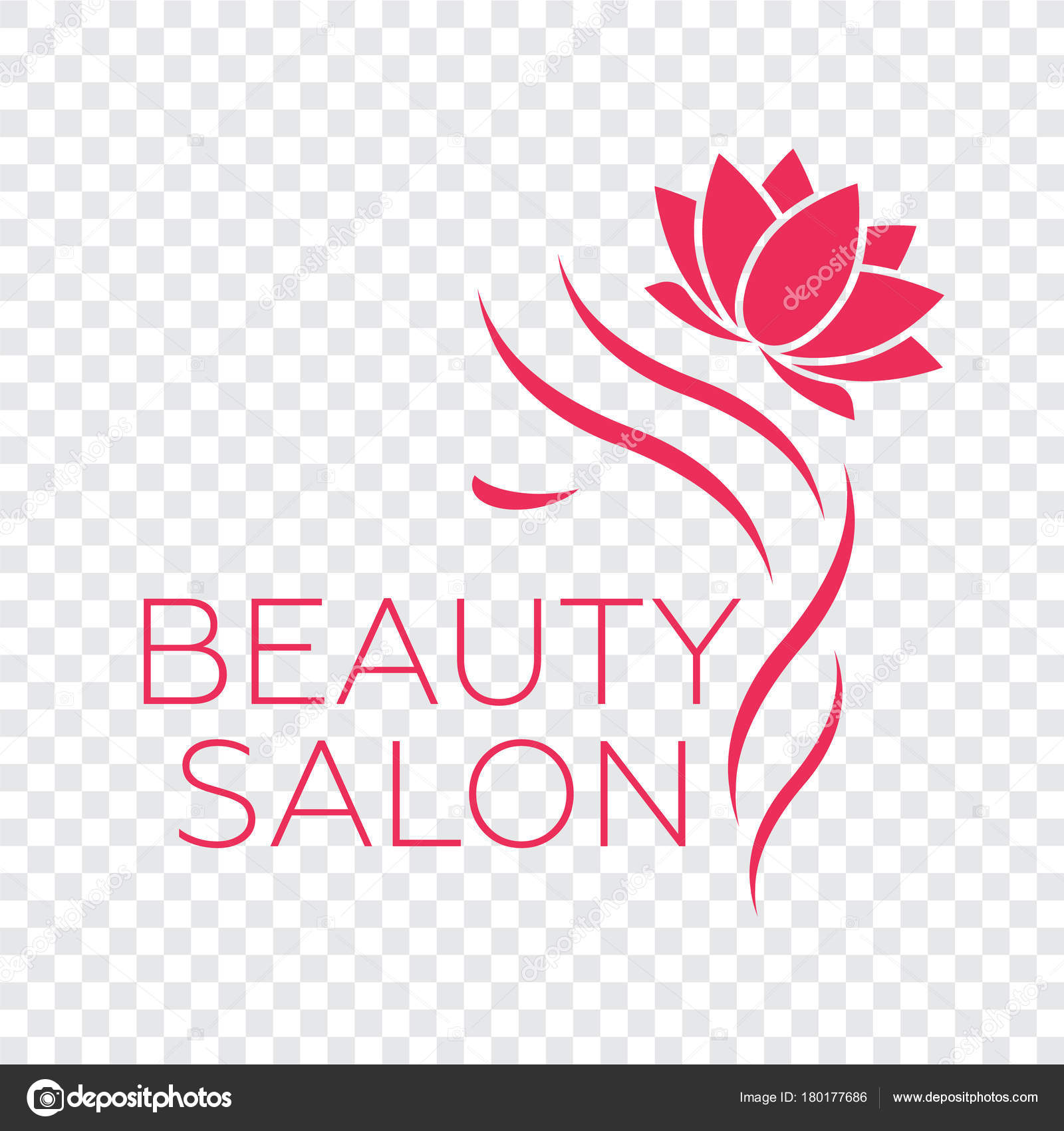 beauty logo hair salon logo hair vector � stock vector