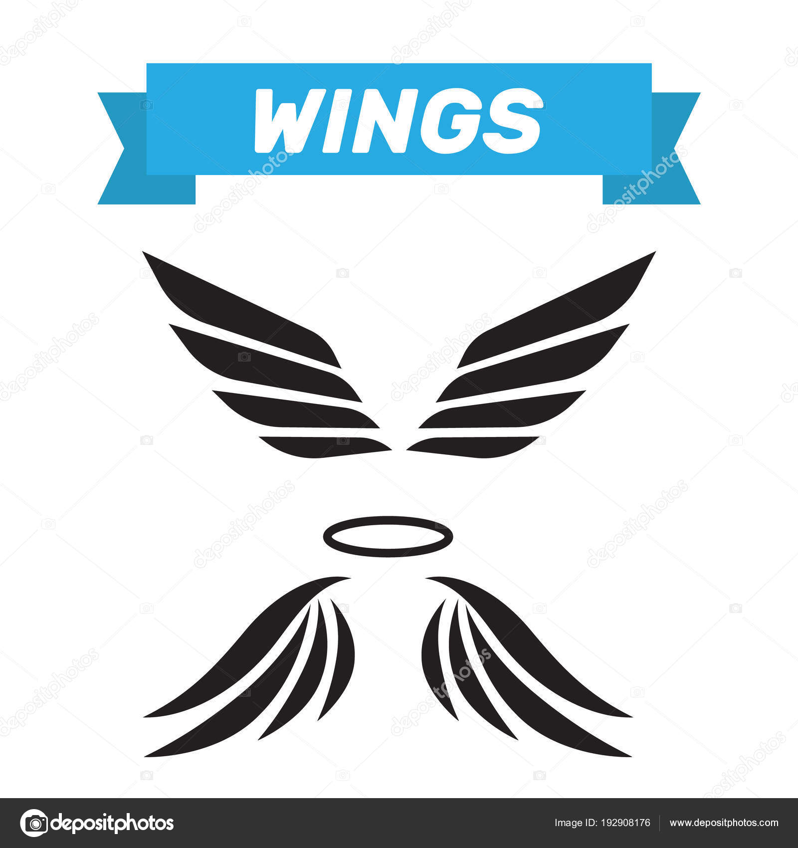 eagle wings vector wings angel isolated bird wings cartoon art stock vector c myub 192908176 depositphotos
