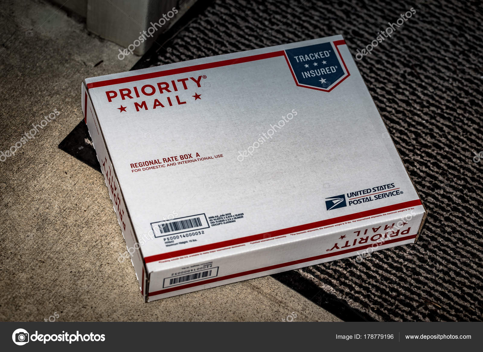 usps priority mail regional rate box stock editorial photo georgesheldon 178779196. Black Bedroom Furniture Sets. Home Design Ideas
