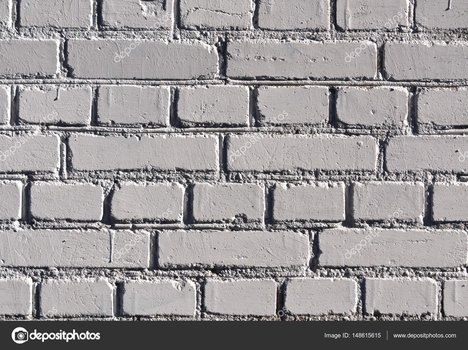 Verwitterte graue Farbe Ziegel Wand Muster — Stockfoto ...