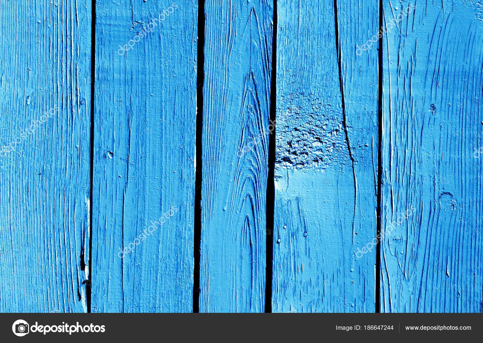 motif de clôture en bois de couleur bleu marine — photographie