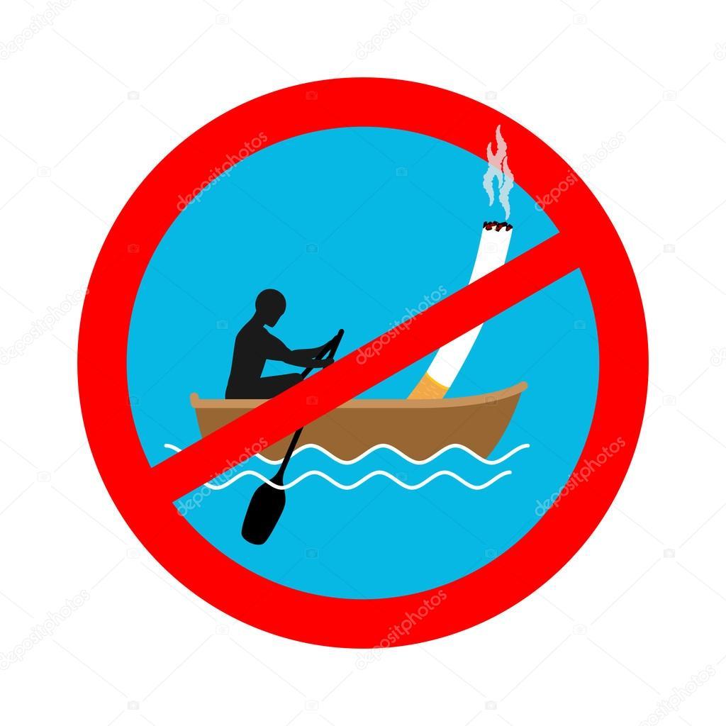 Interdit De Fumer Sur Le Bateau Panneau Rouge Interdiction De Fumer