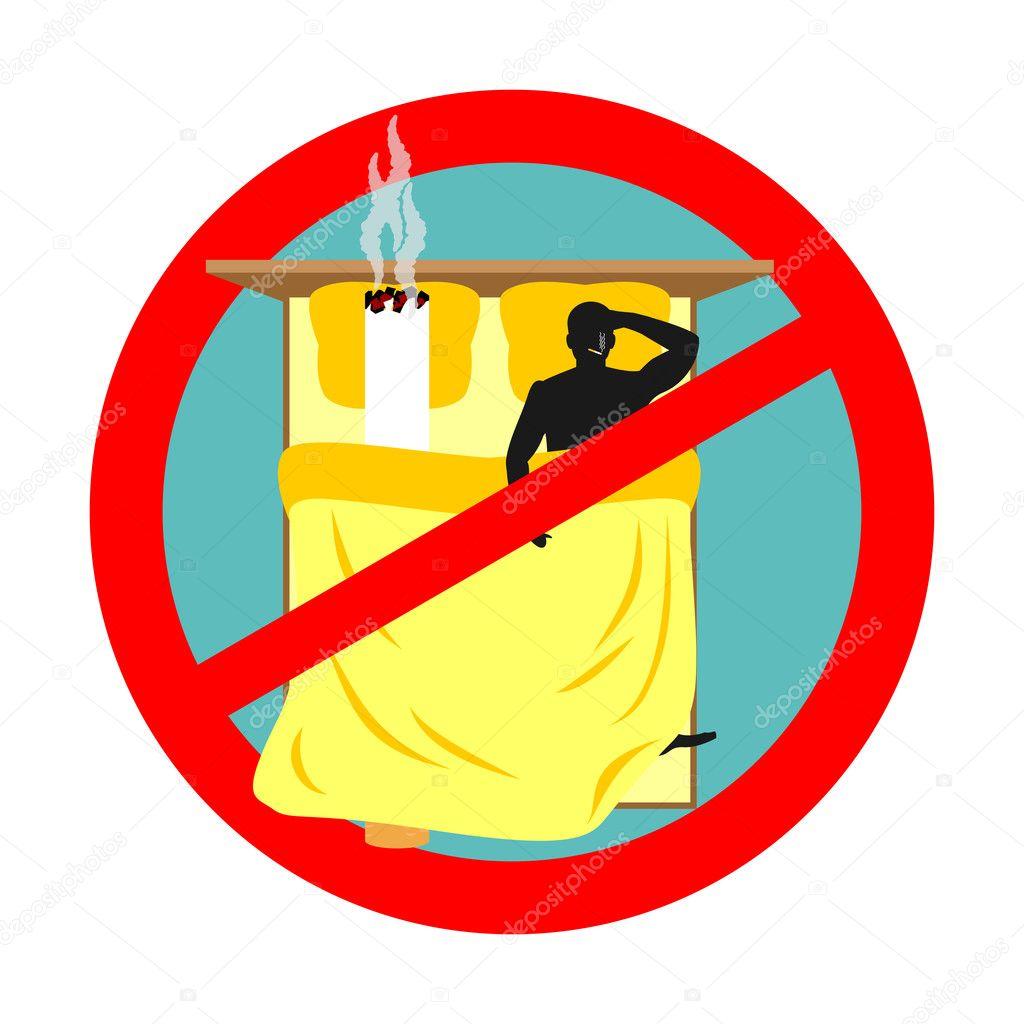Interdit De Fumer Dans Le Lit Panneau Rouge Interdiction De Fumer