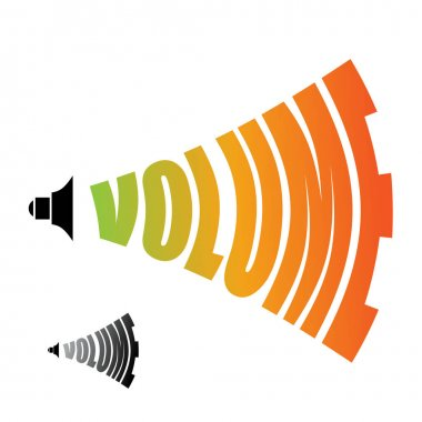 Volume. Sound level. Changing  loudness level of audio