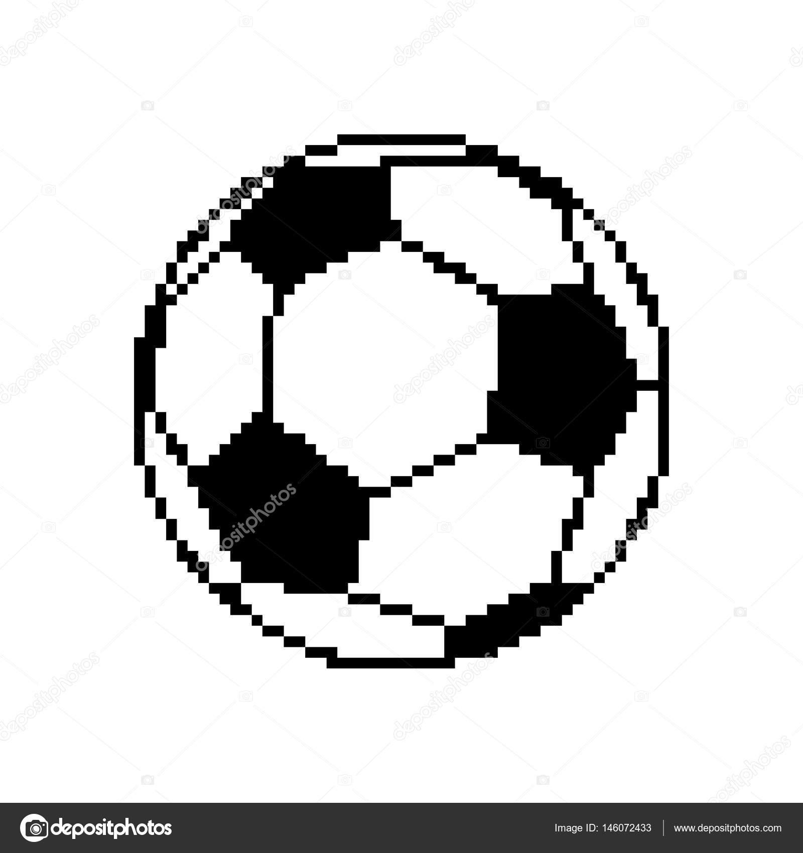 Pixelated Football Soccer Ball Pixel Art Football