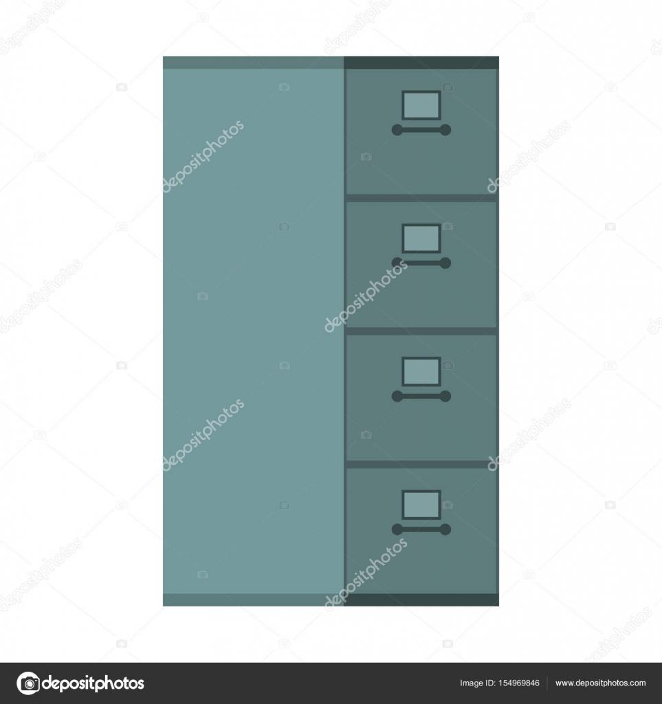 Gabinete de archivo cerrado. Caja del hierro de la tarjeta de índice ...