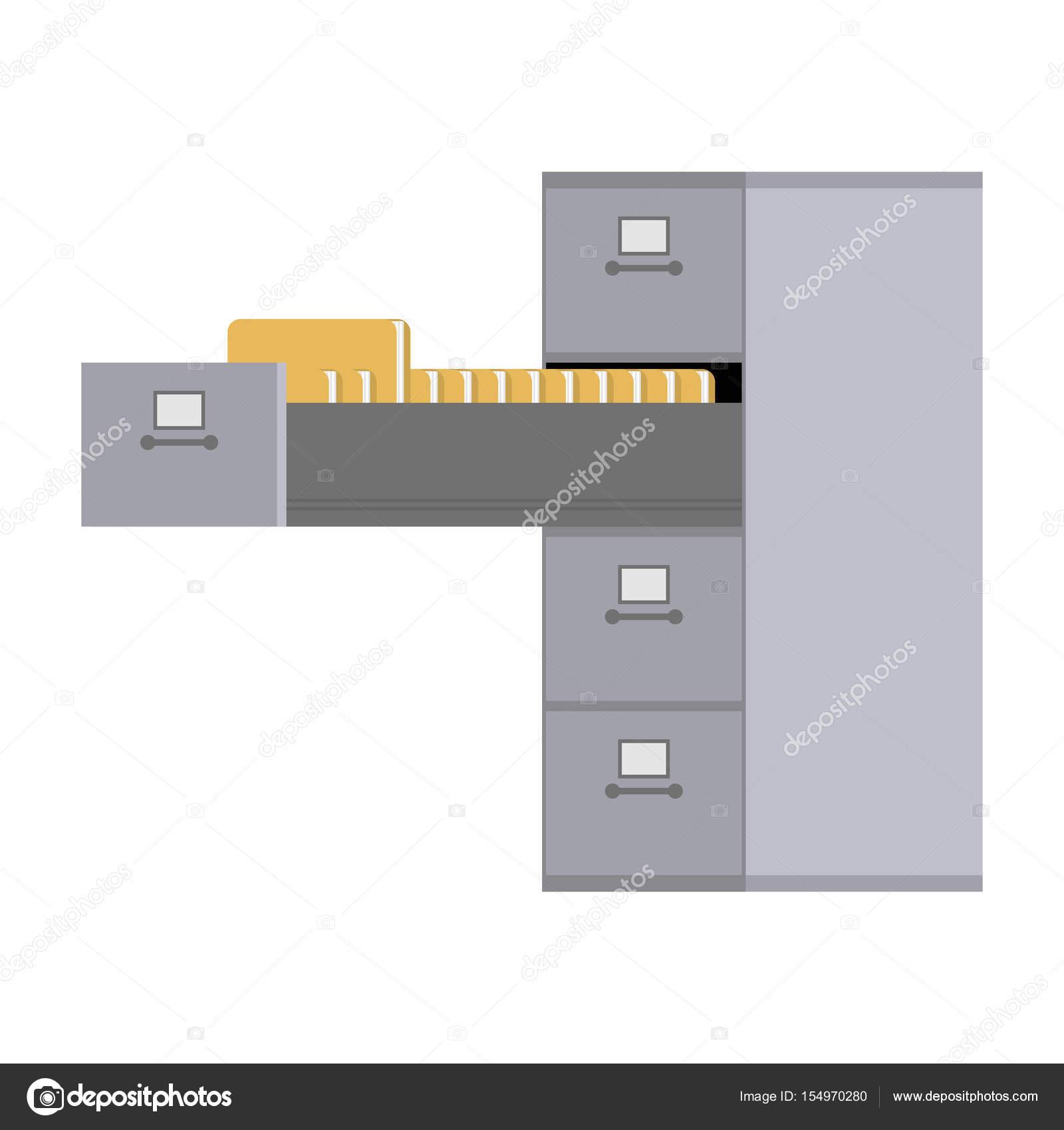 Gabinete de archivo abierto. Caja del hierro de la tarjeta de índice ...