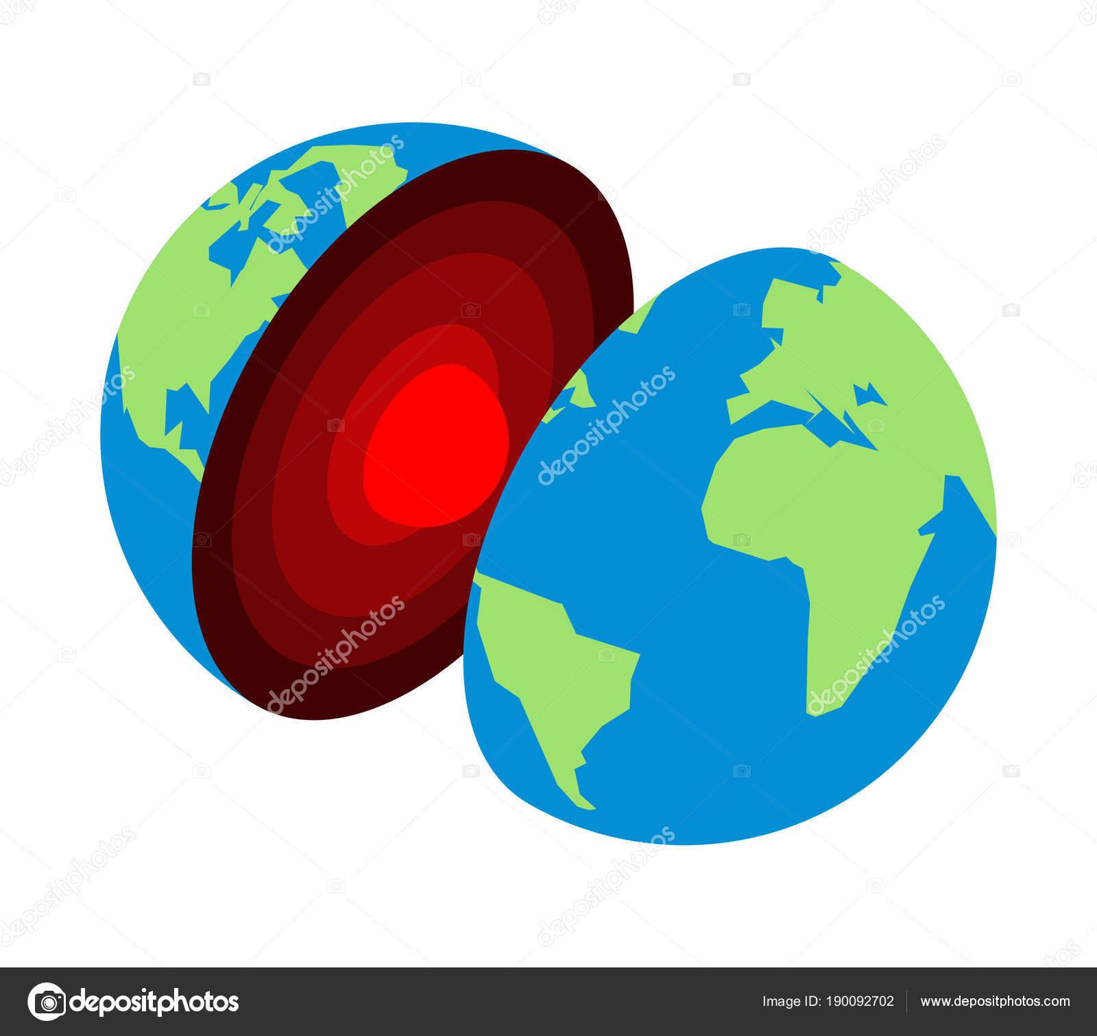 Imágenes La Corteza Terrestre Dibujo Núcleo De La Tierra