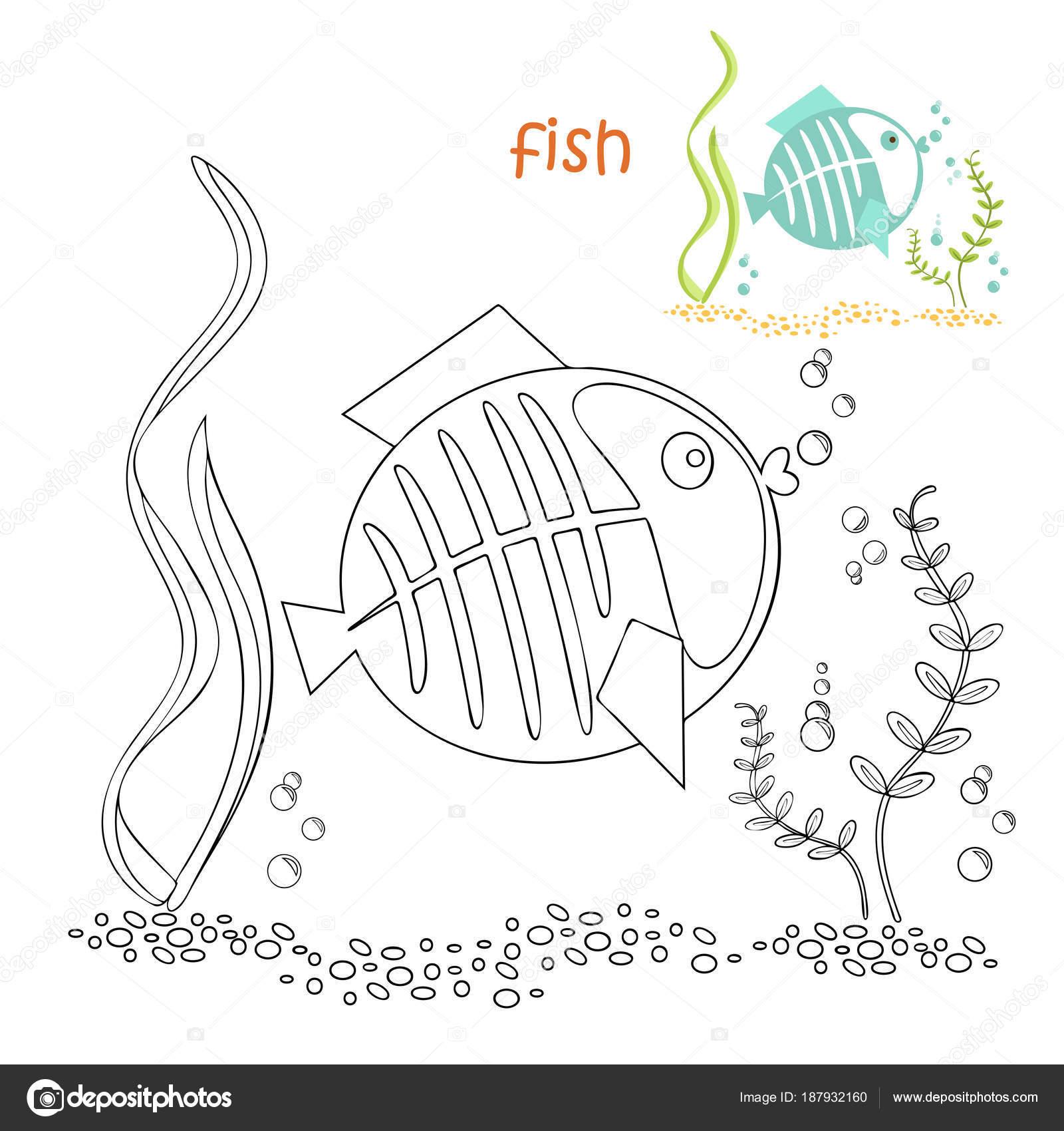 Kinder Malvorlagen Fisch Stockvektor Ollegn 187932160